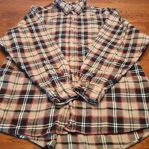 Men's Red Head 100% Cotton Flannel Shirt XL